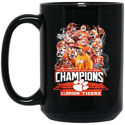 Football Players Clemson Team National Championship Coffee Mug - 15Oz Black Mug For Fanatic Football Fan Friend Lover Wife Husband Mother Father In Chirtsmas Halloween Party Birthday