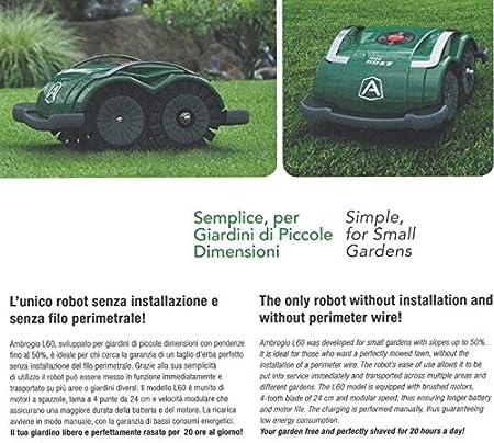 Zucchetti am060b0 K7z cortacésped Zucchetti Ambrogio l60b, verde ...