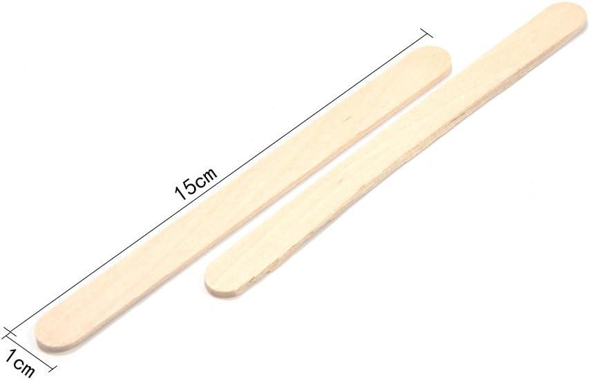 PROKTH 200pcs Batonnet bois Batonnet de glace Abaisse langue Baton de glace en bois 6.5*1cm
