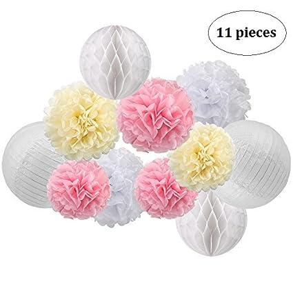 Amazon Btsd Home Paper Decorations Tissue Paper Pom Pom Flowers