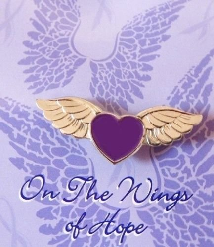 (Purple Heart Pilot Wings of Hope Pin Awareness Many Cancer Cause New Lapel Pin)