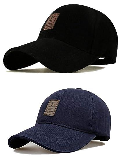 a63d14084046 SHVAS Combo of Black   Blue Cotton Baseball Adjustable EDIKO Cap for Men Women  Unisex Baseball Cap  EDIKOBLUBLACK   Amazon.in  Clothing   Accessories