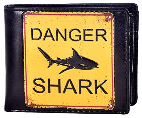 Shag Wear Men's Bifold Wallet Shark (Shark Men For Wallets)