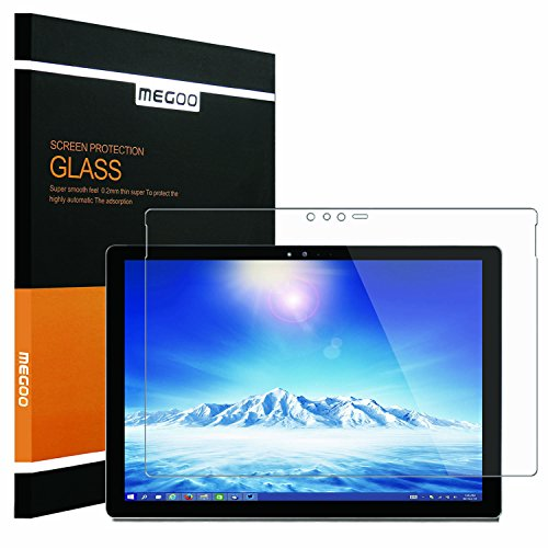 New Surface Pro 2017 Screen Protector [Tempered Glass] Megoo Bubble Free, Ultra Clear, Anti-Scratch, Friendly Touching, also compatible for Microsoft Surface Pro - Computer Glasses New