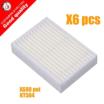 Home Appliance Parts Eas-6pcs Replacement Hepa Filter For Panda X600 Pet Kitfort Kt504 For Robotic Robot Vacuum Cleaner Accessories Cleaning Appliance Parts