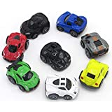 8 Pieces Mini Pullback Toy Car Multicolor Party Favor Toy Vehicles Collection - Piñata Filler Cake Topper …