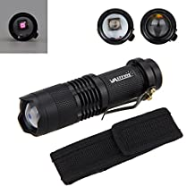 Mini 5W 850nm Zoomable IR Flashlight Night Vision Torch with Side Ring Mount for Security Camera Use, Night Watching or Observation