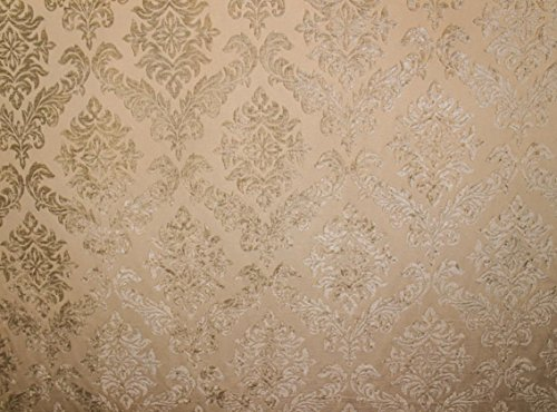 - Shadow Shelby 100 Damask Velvet Upholstery Drapery Fabric By the Yard 56