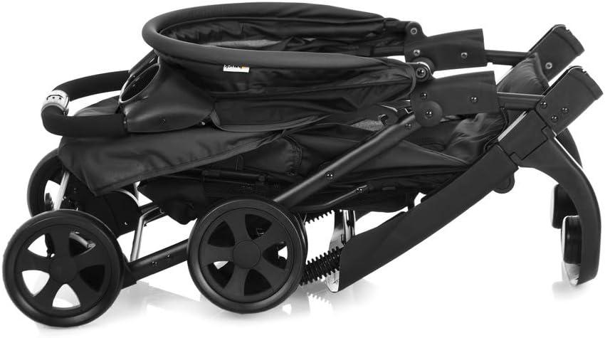 respaldo reclinable sistema de arn/és de 5 puntos Silla de paseo para bebes de 0 meses hasta 15 kg compacta y ligera plegado ligero color negro y rojo Hauck Sprint ruedas desmontables