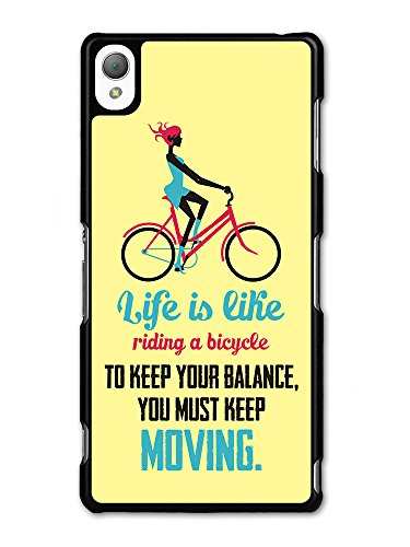 a Bicycle Albert Einstein Life & Love Inspirational Quote case for Sony Xperia Z3 ()