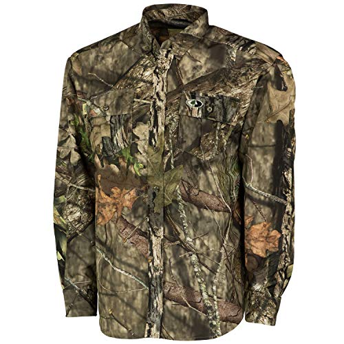 Mossy Oak Men's Tibbee Technical Lightweight Camo Hunting Shirt, Break-Up Country, XX-Large