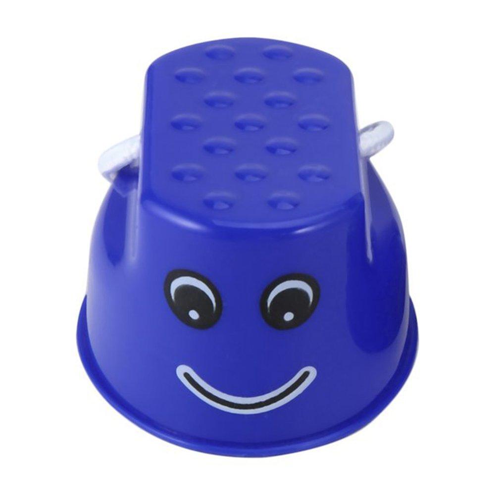 Yogatada Children Kids Outdoor Fun Walk Stilt Jump Smile Face Balance Training Toy Blue