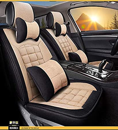 MuYiHan Universal Thickening And Warming Auto Car Seat Cover Eiderdown Cushion For Winter Short Plush