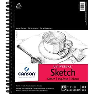 "Canson Universal Sketch Pad, Side Wire Bound, 11"" x 14"""