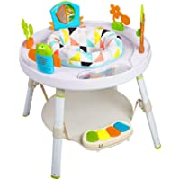COLOR TREE Baby's View 3-Stage Spin 360 Seat & Activity Center Baby Bouncer Rocking Seat Chair,White
