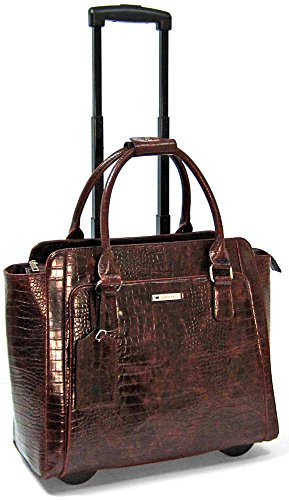 cabrelli-empire-croco-156-laptop-rollerbrief-brown