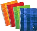 Clairefontaine - Wirebound Notebook 6.75'' x 8.63'' French or College Ruled – 120 Pages