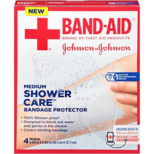 Band-Aid Shower Care Bandage Protector, Medium, 4 Count by Band-Aid