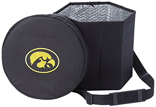Iowa Hawkeyes Tailgate Cooler (NCAA Iowa Hawkeyes Cooler Ottoman Cold Storage Seat)