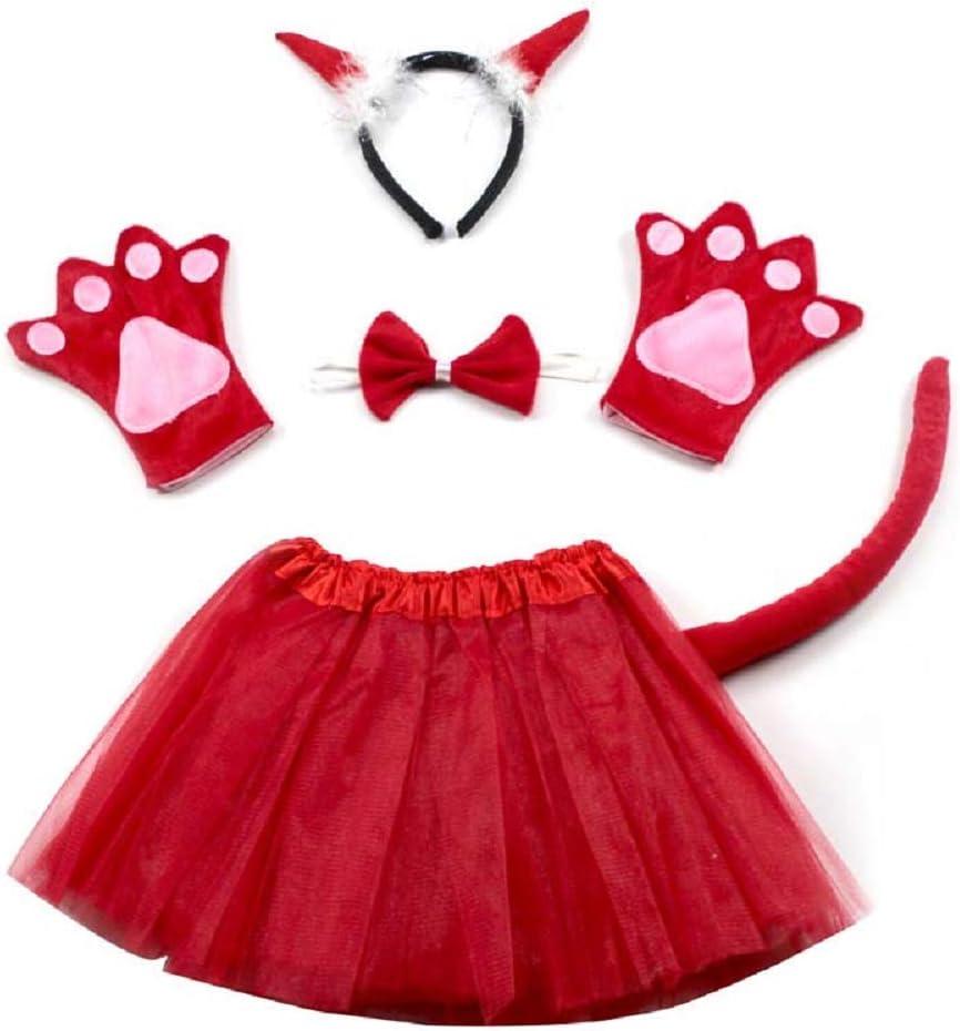 Lovelegis Disfraz de Demonio Demonio Diablo - para niña - tutú ...