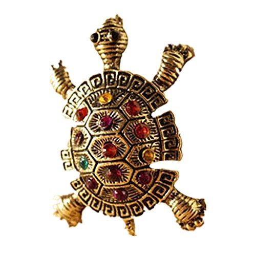 Napoo Clearance Vintage Old Cute Turtle Sweater Chain Pendant (Old Vintage Rhinestone)