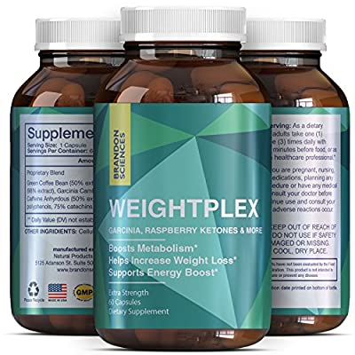 Potent Garcinia Cambogia + Green Tea + Green Coffee Bean Extract + Raspberry Ketones - Supplement For Men And Women - Pure Weight Loss Pills - Burn Belly Fat - Appetite Suppressant - Brandon Sciences