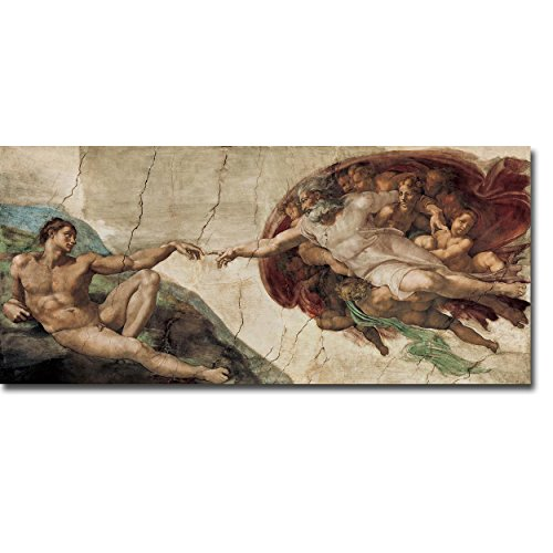 Artistic Home Gallery 3060U956TG Creation of Adam by Michelangelo Premium Oversize Gallery-Wrapped Canvas Giclee Art (Ready to Hang) from Artistic Home Gallery