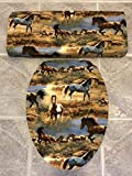 Wild Horses Toilet Seat & Tank Lid Cover Set - Audrey Belisle