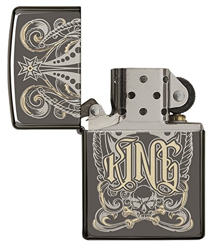Zippo King Black Ice Pocket Lighter