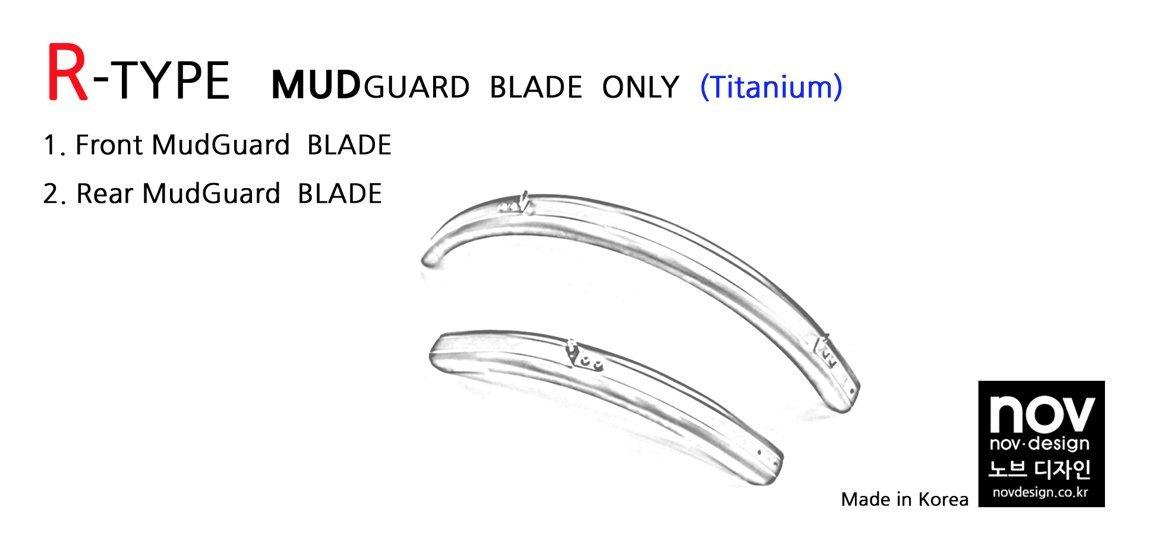 Nov R-Type titanium mudguard sets for Brompton Folding Bike - Dino Kiddo
