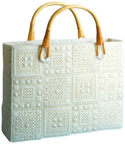 Design Works Plastic Aran Canvas Tote Bag Cross Stitch Kit, Beige by Design Works ()