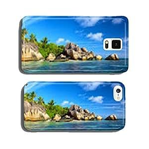 Anse Source d'Argent beach panorama, La Digue, Seyshelles cell phone cover case Samsung S6