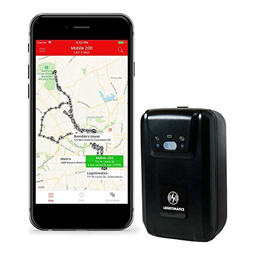 Logistimatics Mobile-200 Real Time Personal and Vehicle GPS Tracker With Live Audio Monitoring by Logistimatics