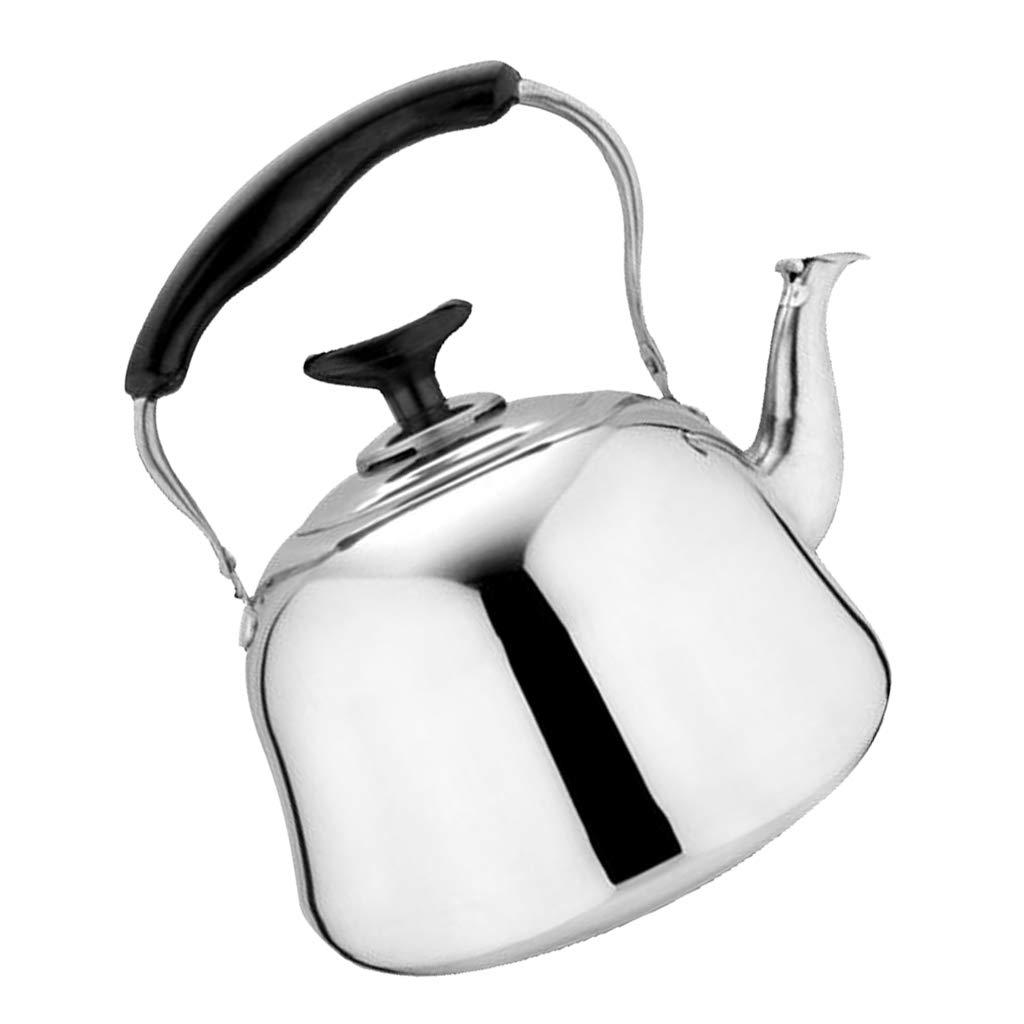 Al Aire Libre Fenteer Whistling Tea Kettle Tetera De Acero Inoxidable Tetera De Inducci/ón Estufa De Gas El/éctrica Para Calentar El Agua R/ápidamente Tetera tal como se describe Plata 3L P