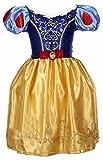 Laryana Kids Children Girls Snow White Princess Cosplay Palace Full Dress (130cm/5T-6T, Yellow)