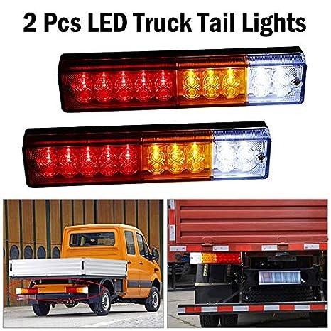Led Truck Tail Lights >> Amazon Com Ponis Limos 2pcs Led Tail Lights Car Truck