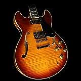 Yamaha Semi Hollow Series Classic Double Cutaway Active Semi-Acoustic Guitar, 22 Frets, Premium Grade Mahogany Neck, Violin Sunburst