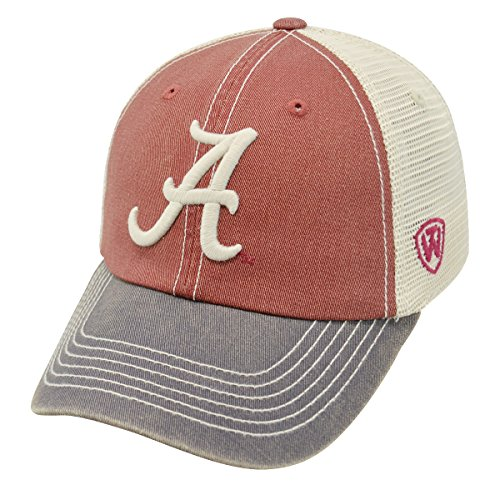 寛容な冷蔵する羊の服を着た狼Alabama Crimson Tide NCAA Top of the World Off Road Adjustable Mesh Back Hat by Top of the World