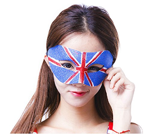 PANDA SUPERSTORE [UK] Flag Mask Halloween Party Mask Masquerade Delicate Mask (179 CM)