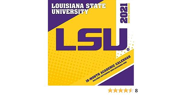 Lsu 2022 Academic Calendar.Amazon Com Turner Licensing Lsu Tigers Mini Wall Calendar 2021 Office Products