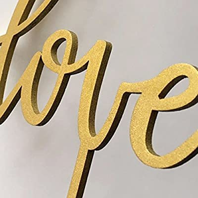 """Gold Script """"It Was Always You"""" Cake Toppers Wood Rustic Wedding Decortions Bridal Shower Gifts Anniversary Party Favors 1 piece"""