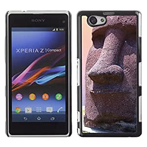 CaseLord Carcasa Funda Case - Sony Xperia Z1 Compact / Easter Island Statue /