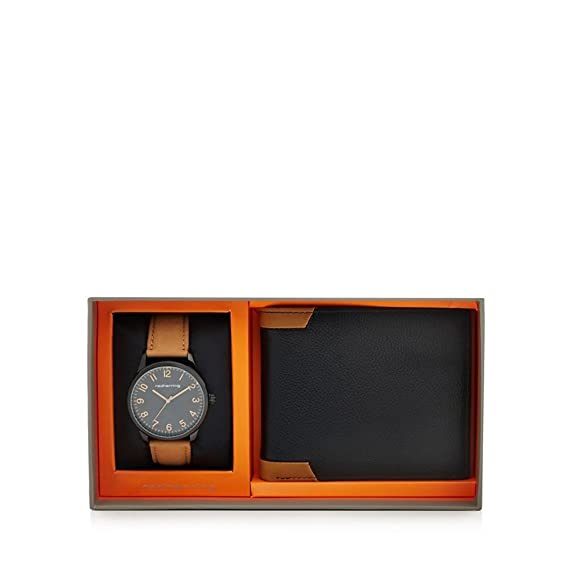Red Herring - Reloj de piel para hombre y cartera de regalo Set: Amazon.es: Relojes