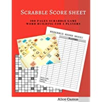 Scrabble Score sheet For 4 Player: 100 pages scrabble game word building for 4 players