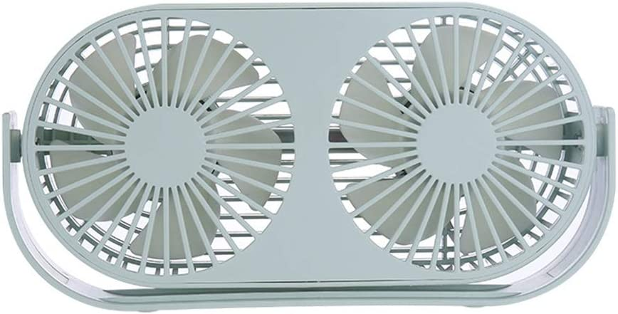 USB Table Desk Personal Fan Desktop Tabletop Office Powered Desk Mini Double Fan 3 Speeds Quiet 360/° Up and Down Small Table Fan with Switch On//Off /& Travel for Home Office Table
