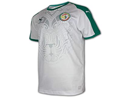 566f235b26b Image Unavailable. Image not available for. Color  PUMA 2018-2019 Senegal  Home Football Soccer T-Shirt Jersey