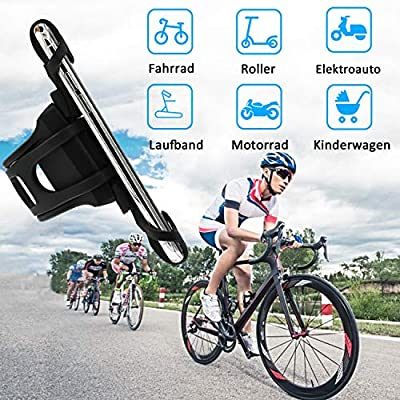 Bike Motorcycle Phone Mount, ANCwear 5-in-1 Portable Phone Holder, Adjustable Silicon Universal Fit Handlebars and Smart Phones Like iPhone Xs Max R X 8 Plus 7 Samsung