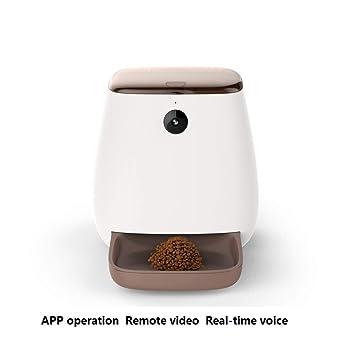 JJZHY Alimentación Automática para Mascotas Alimentador Inteligente Sincronización Automática Máquina de Alimentación Fresca Perro Gato Suministros Mascota ...