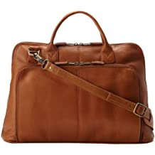 Latico Leathers Heritage Collection Slim Top-Zip Briefcase