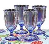 The Pioneer Woman Luster Blue 12.5oz Pearlized Goblet, Set of 4 Review
